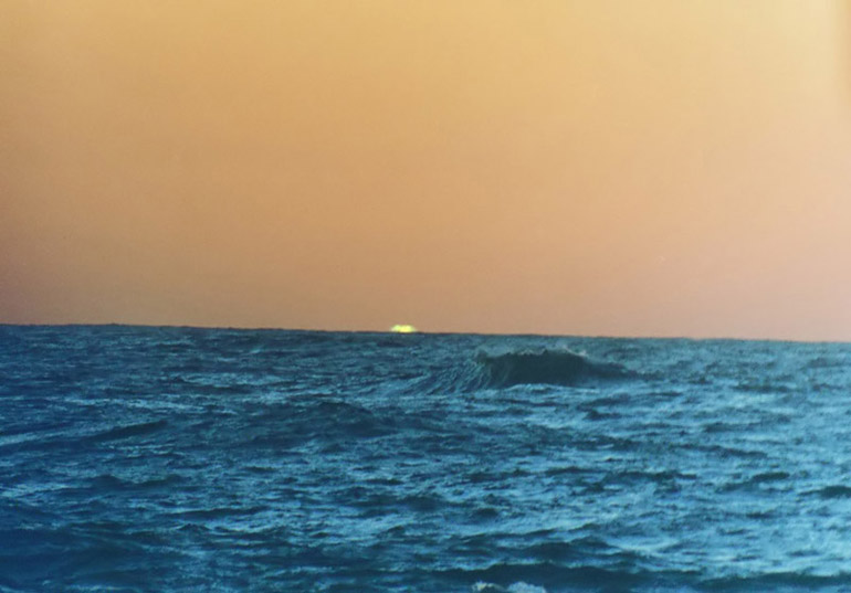 Green Flash - by: Aymen Ibrahem (Zenit 500mm, F5.6, 1/500 second exposure, Kodak Ultra 400)