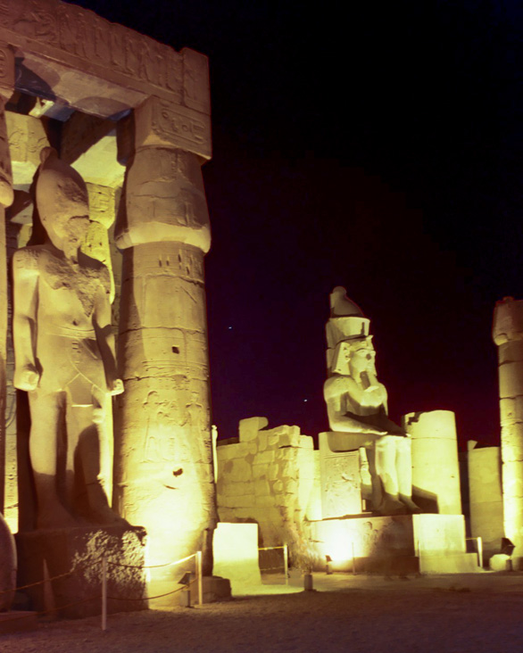 'Planets Above Luxor' - Temple of Luxor, Egypt - by: Aymen Ibrahem (1 second exposure, Kodak Ultra 400, Zenith Camera)