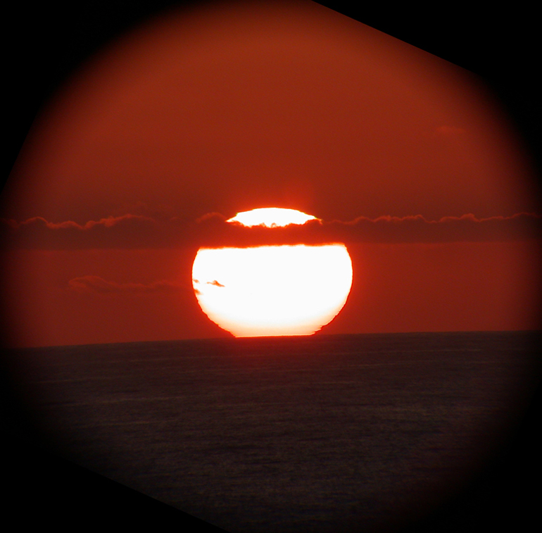 A sunset through a telescope