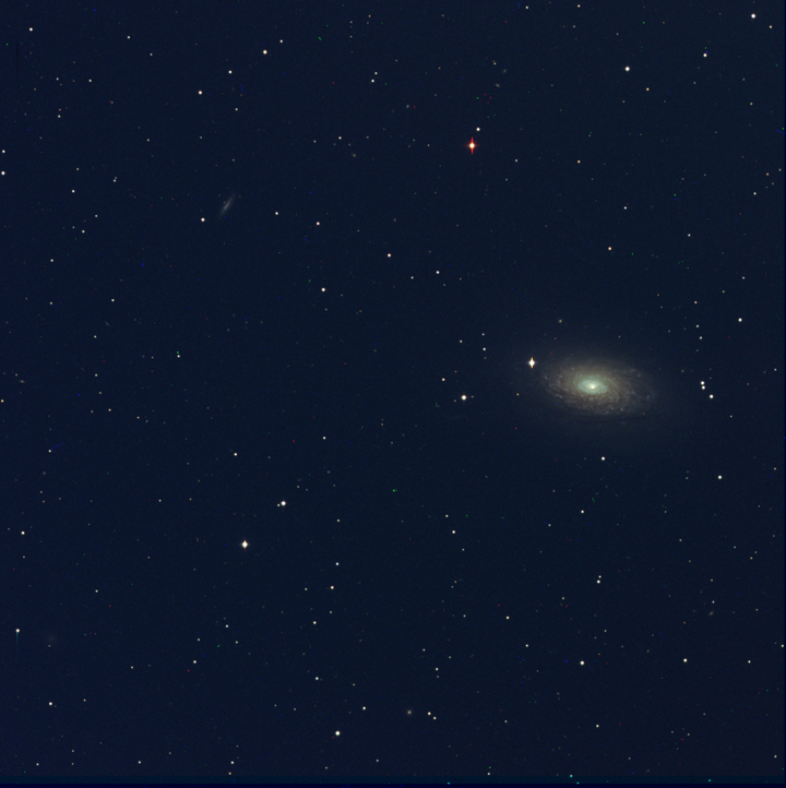 M63 Assembled from individual filtered images by Ricky Murphy. Images provided by Professor Pamela Gay for Astrophotography projects at SAO