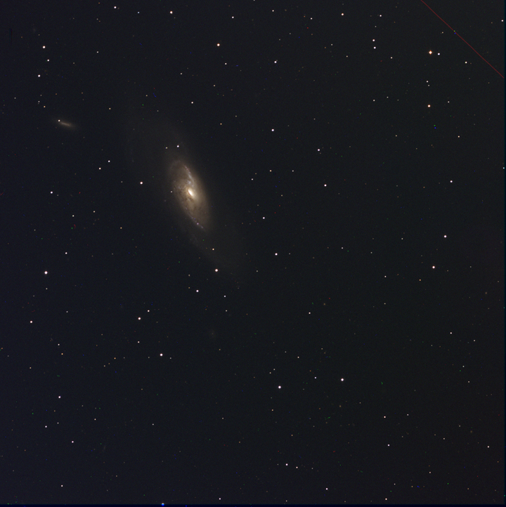 NGC 4258 Assembled from individual filtered images by Ricky Murphy. Images provided by Professor Pamela Gay for Astrophotography projects at SAO.