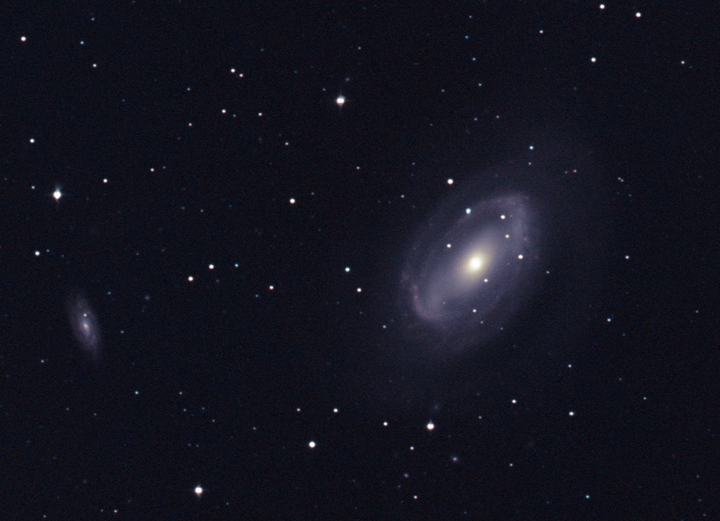 Same as previous image - cropped and color corrected (best possible due to synthetic green channel) by Ricky Murphy. Images provided by Professor Pamela Gay for Astrophotography projects at SAO.