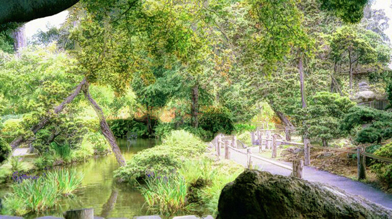 Japanese Tea Gardens in Golden Gate Park - with some help of PhotoShop Effects
