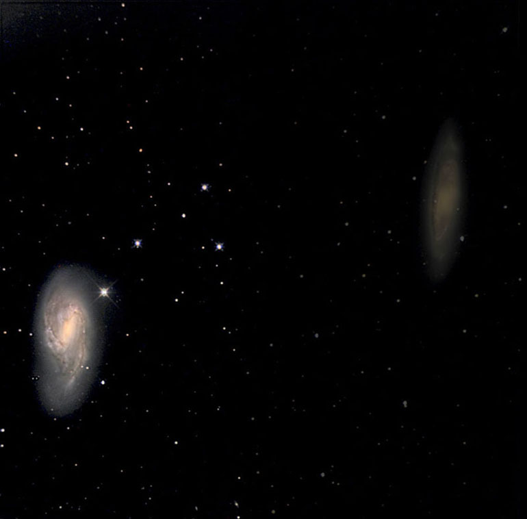 Spiral Galaxy M66 (on the left)