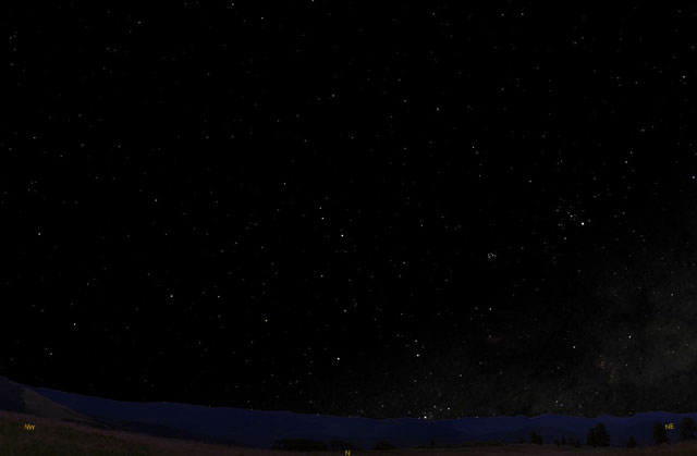 winter night sky planets - photo #7