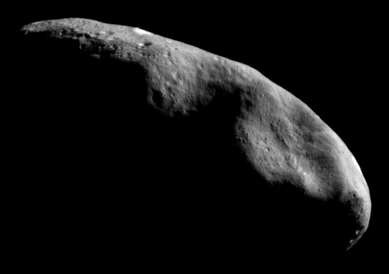 Our best image of an asteroid - asteroid Eros.