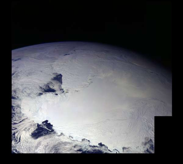 Antarctica - Ross Ice Shelf seen from the Gallileo Space Probe