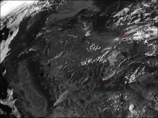 Wildfires from Space - Southwest United States