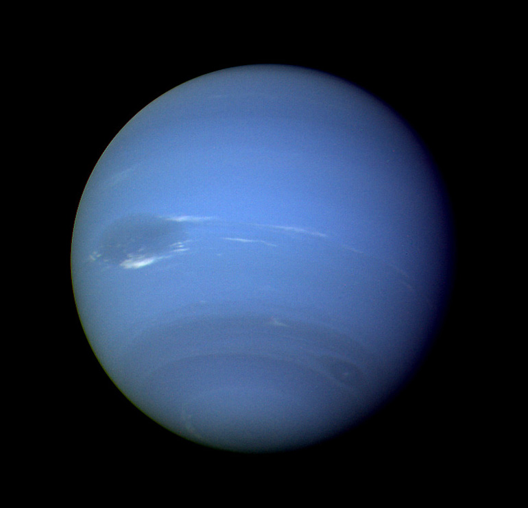 One of the best wide-angle Voyager 2 images of Neptune, and my all time favorite.