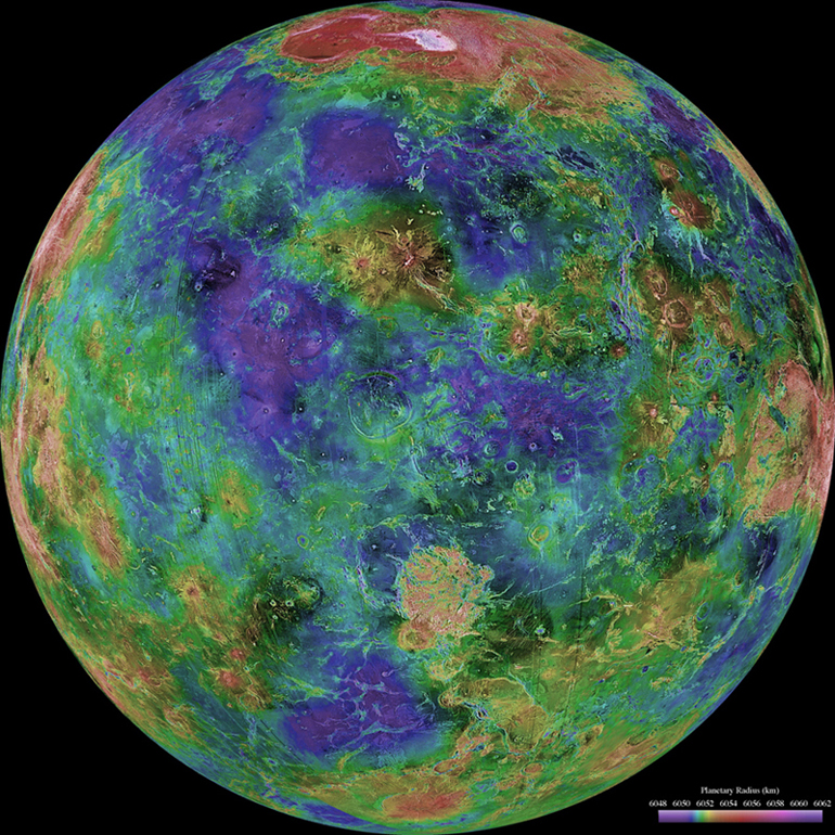 Radar image of Venus from Magellan.