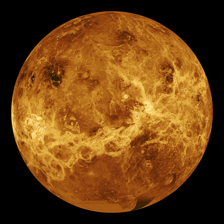 Radar image of Venus from the Earth