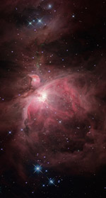 Orion Nebula Opticl and Infrared Overlay