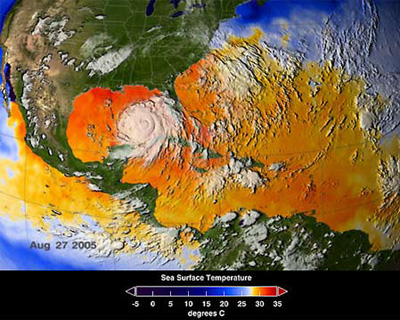 Increase in SST - Katrina